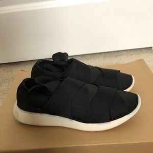 Zara black lace up sneakers